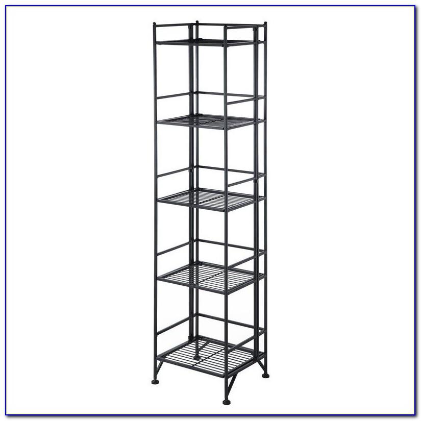 Metal Folding 2 Shelf Bookcase