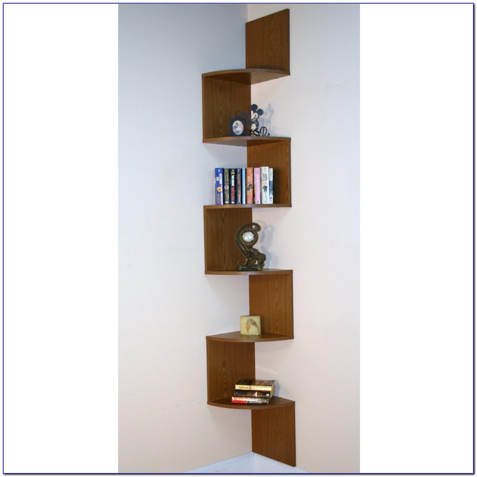 Mid Century Modern Corner Bookcase