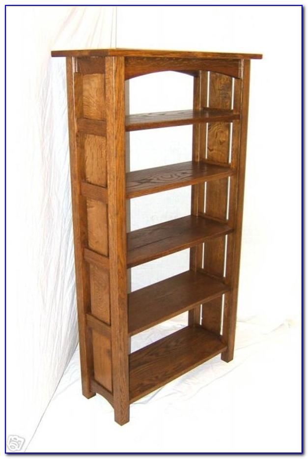 Mission Oak Bookcase Glass Doors