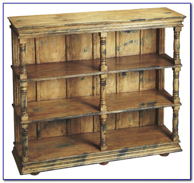 Mission Style Wood Bookcase