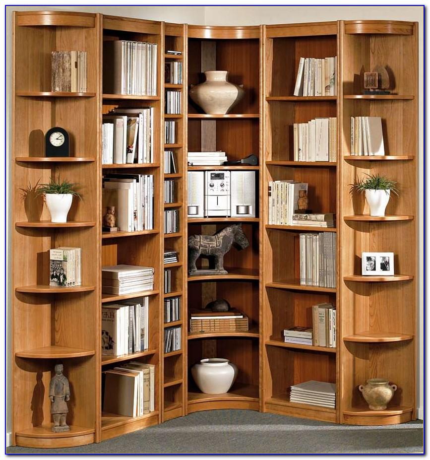 Modern Corner Bookshelf