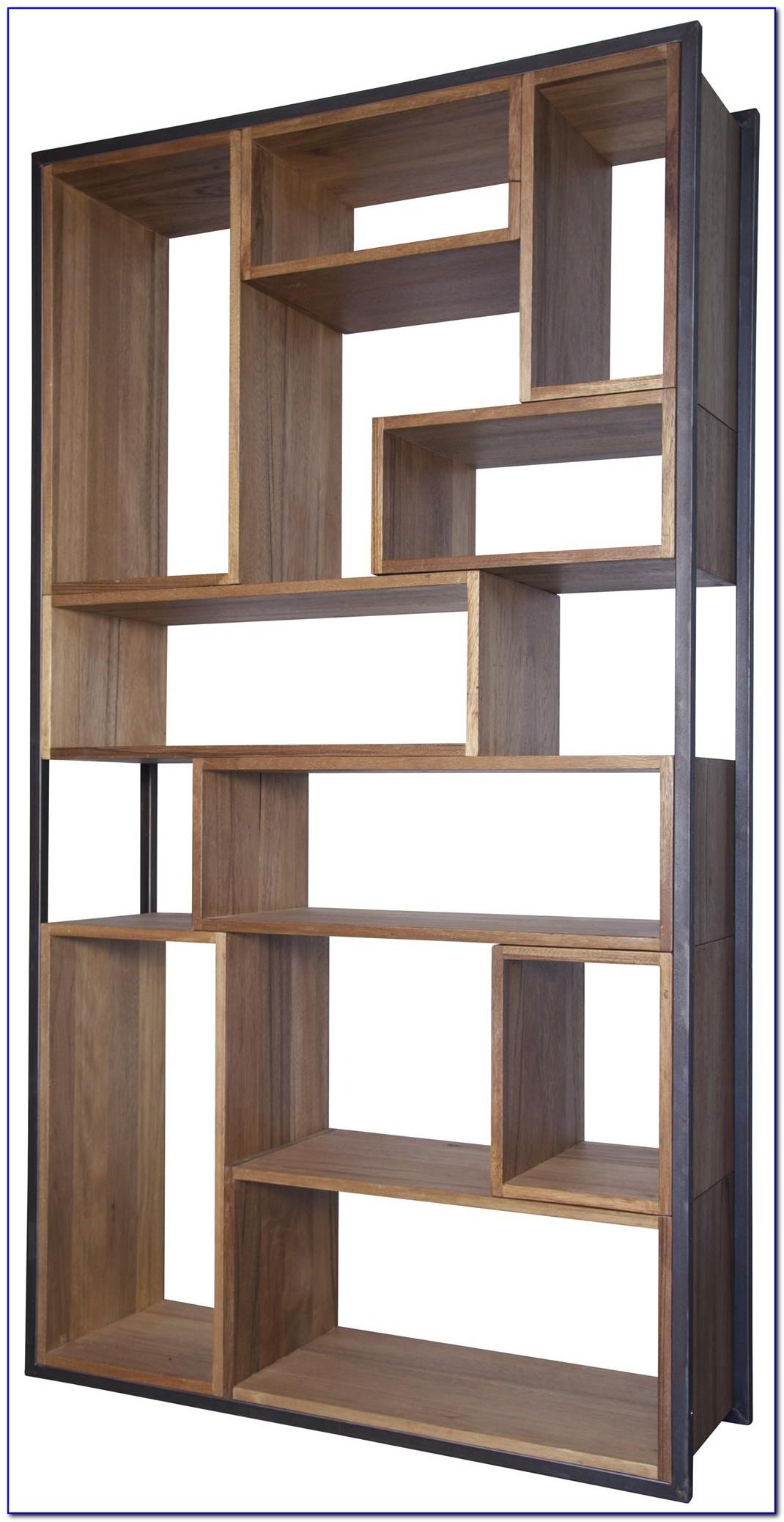 Modern Dark Wood Bookcase