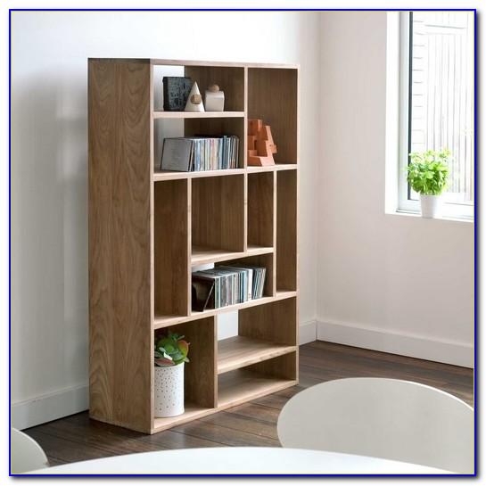 Modern White Wood Bookcase