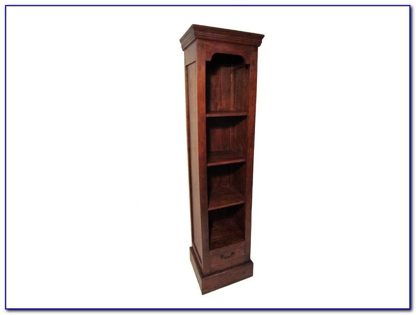 Narrow Cherry Wood Bookcase