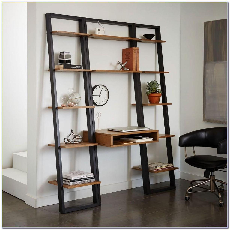 Narrow Ladder Shelf White