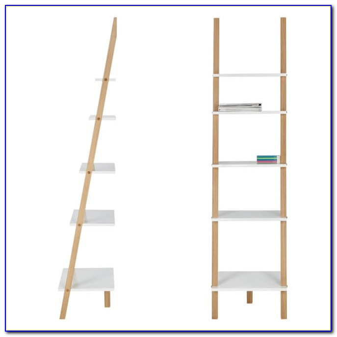 Narrow Ladder Shelves