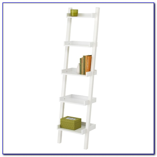 Narrow Leaning Bookcase