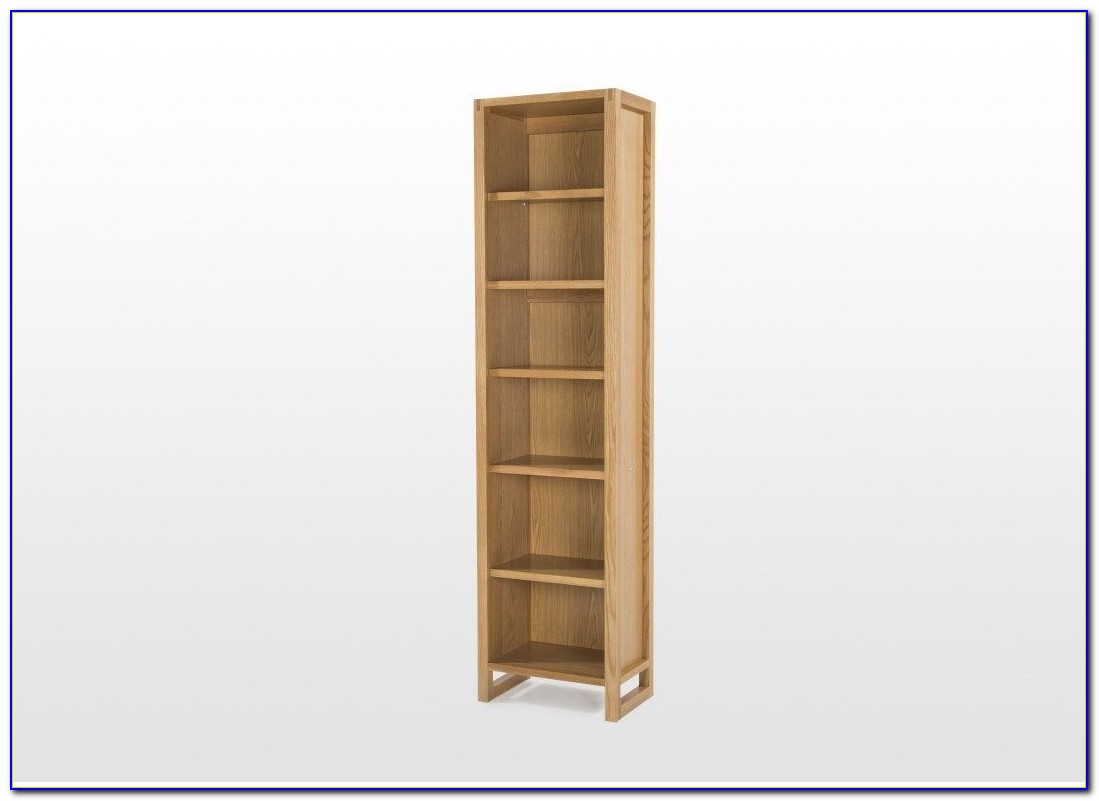 Narrow Real Wood Bookcase