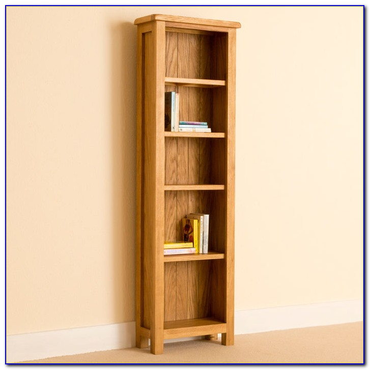 Narrow Solid Oak Bookcase