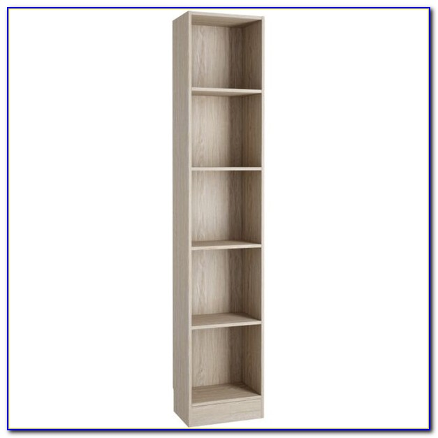 Narrow White Corner Bookcase