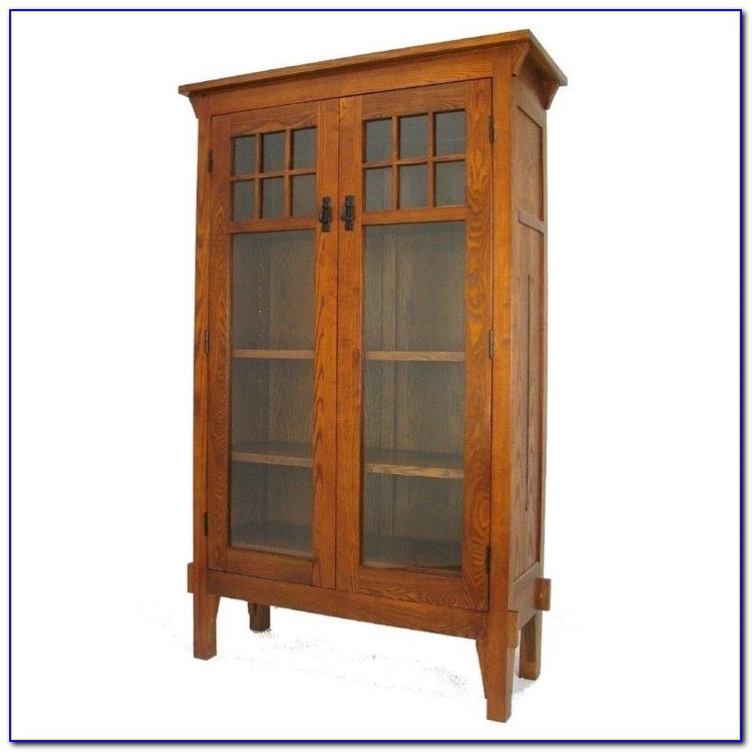 Oak Barrister Bookcase Antique