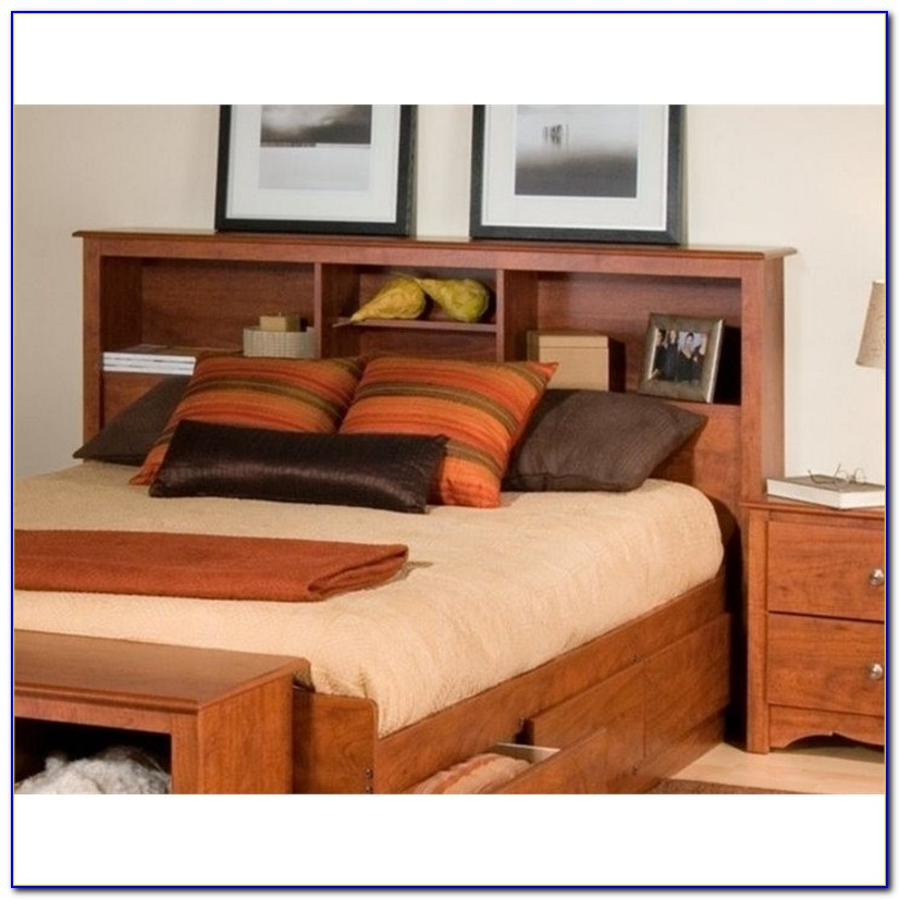 Oak Bookcase Headboards For Queen Beds