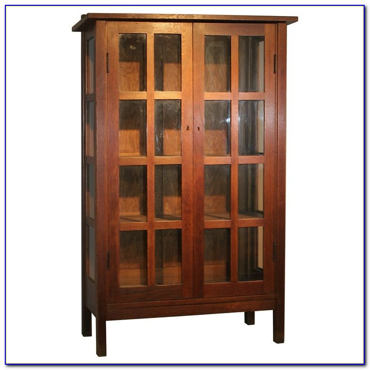 Oak Bookcase Mission Style