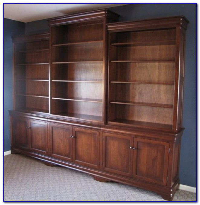 Oak Bookcase Wall Units