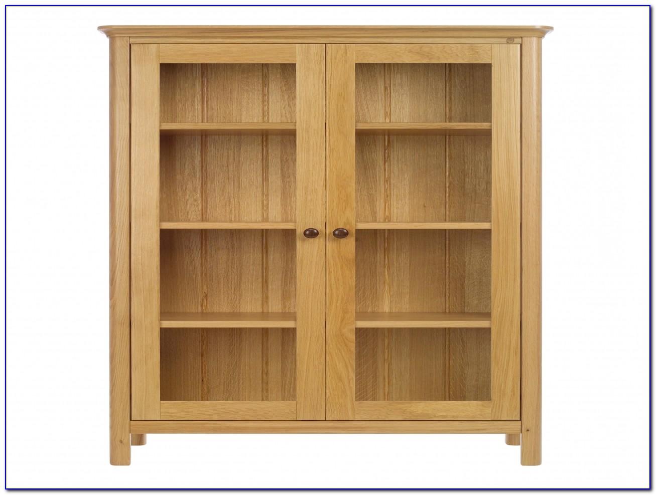 Oak Bookcase With Doors