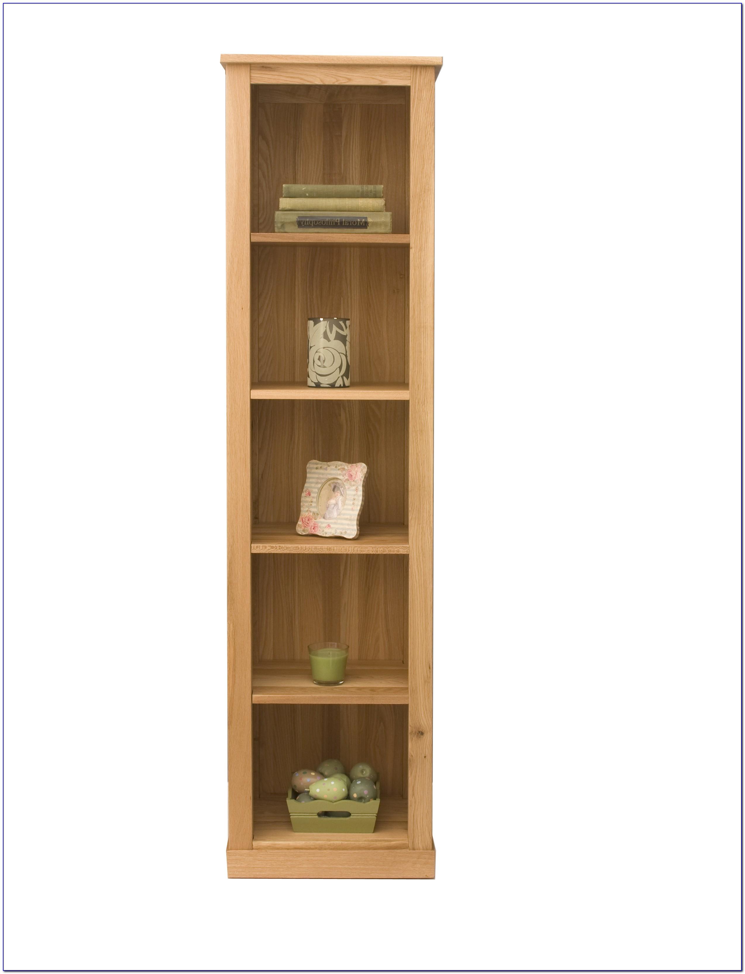 Oak Narrow Bookshelves
