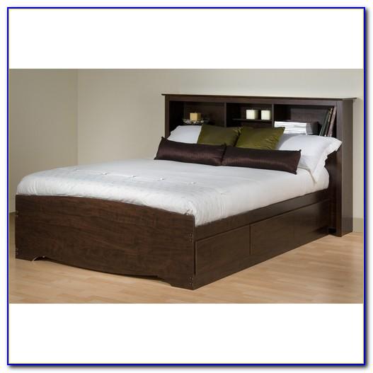 Platform Bed With Bookcase Storage