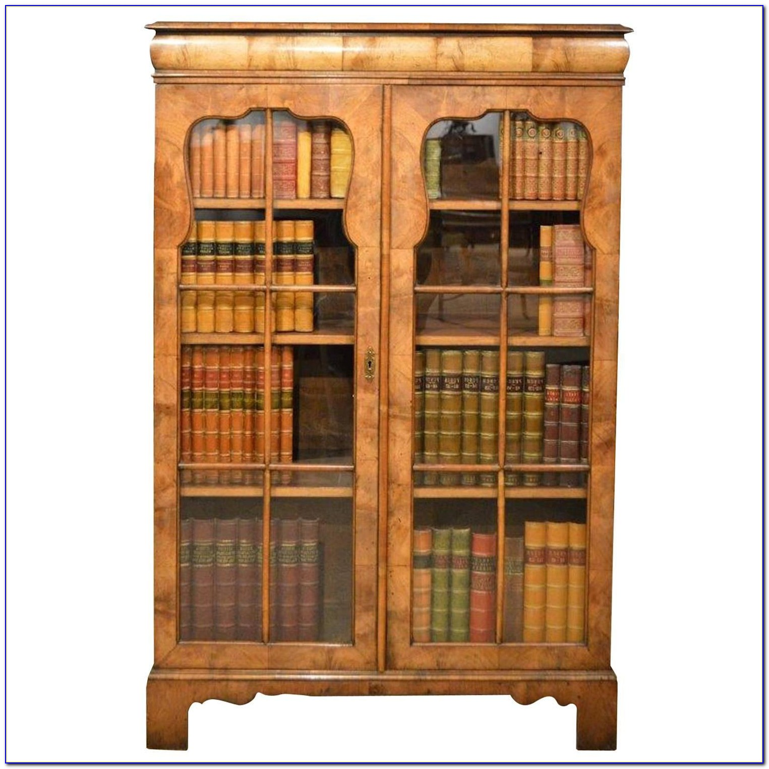 Queen Anne Bookcase With Glass Doors