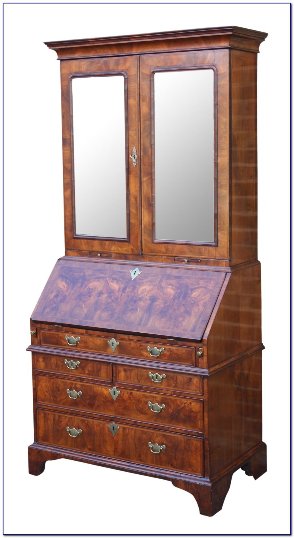 Queen Anne Bureau Bookcase
