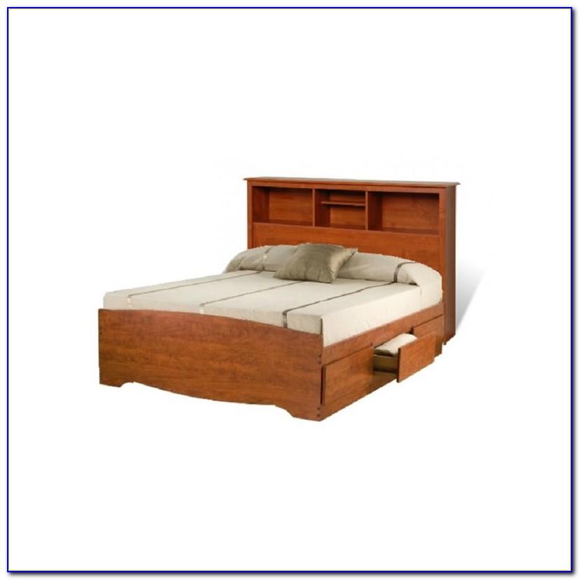 Queen Bookcase Storage Bed