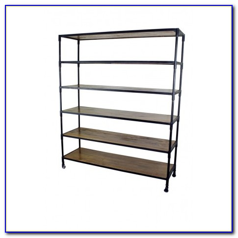 Rod Iron And Wood Bookcase