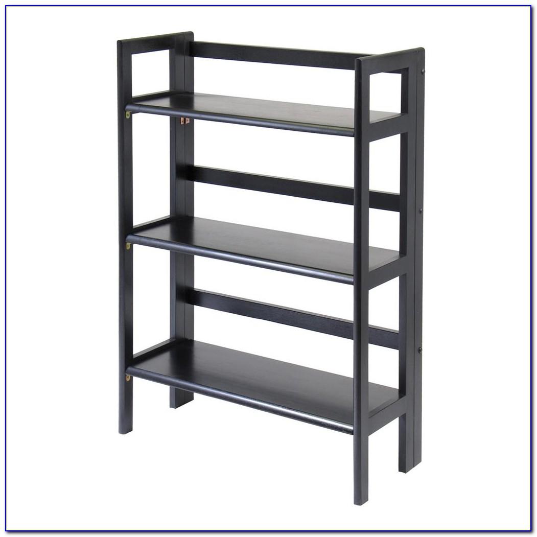 Rubberwood Folding Bookcase