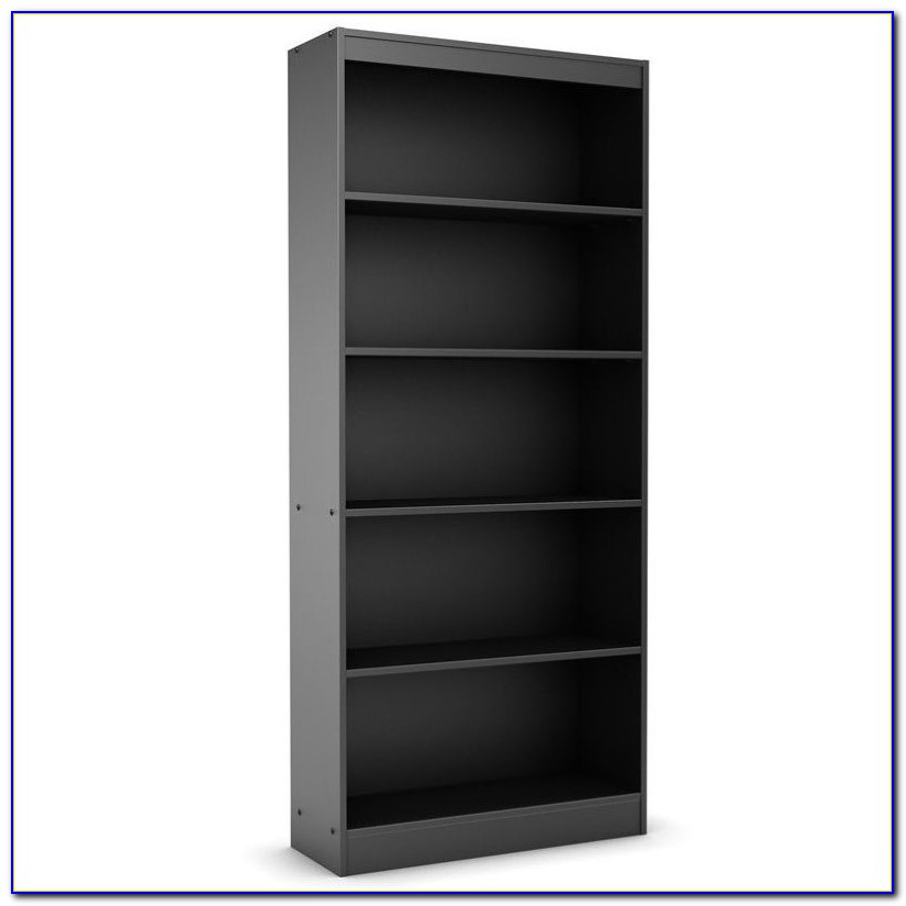 Sauder 5 Shelf Black Bookcase