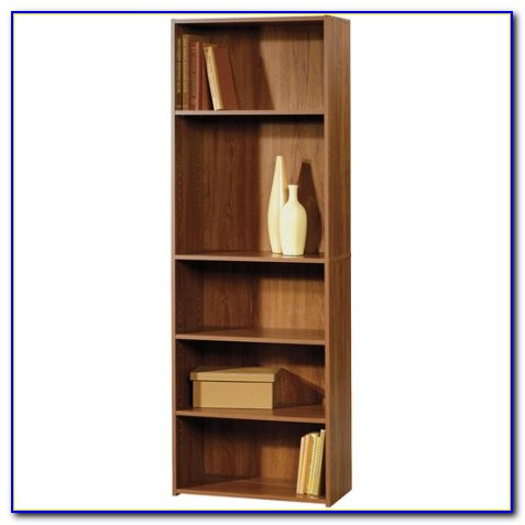 Sauder Beginnings 5 Shelf Bookcase Cinnamon Cherry