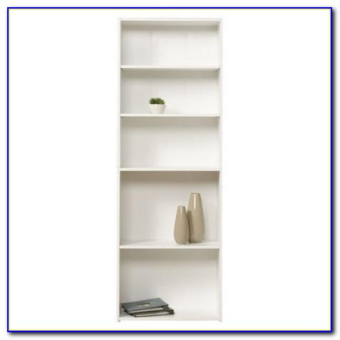 Sauder Beginnings 5 Shelf Wood Bookcase Oak Finish
