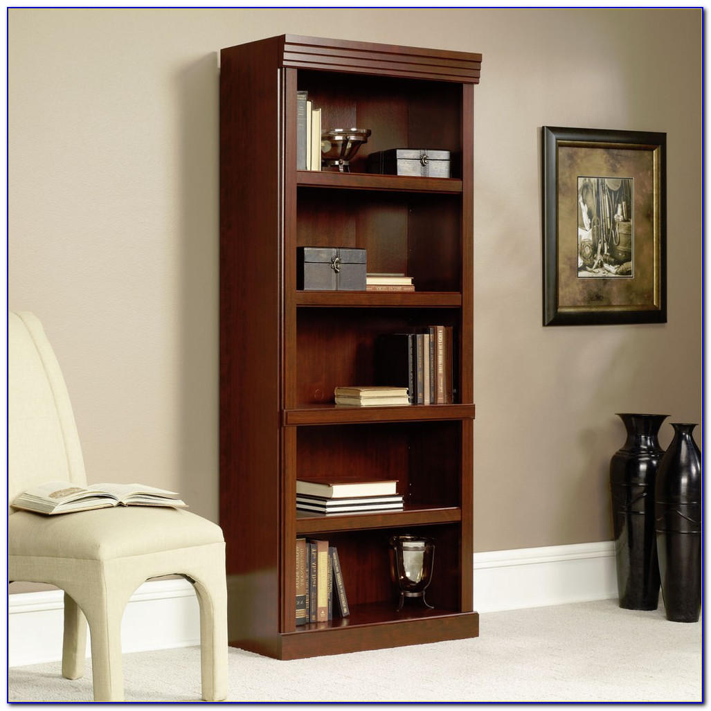 Sauder Planked Cherry Bookcase