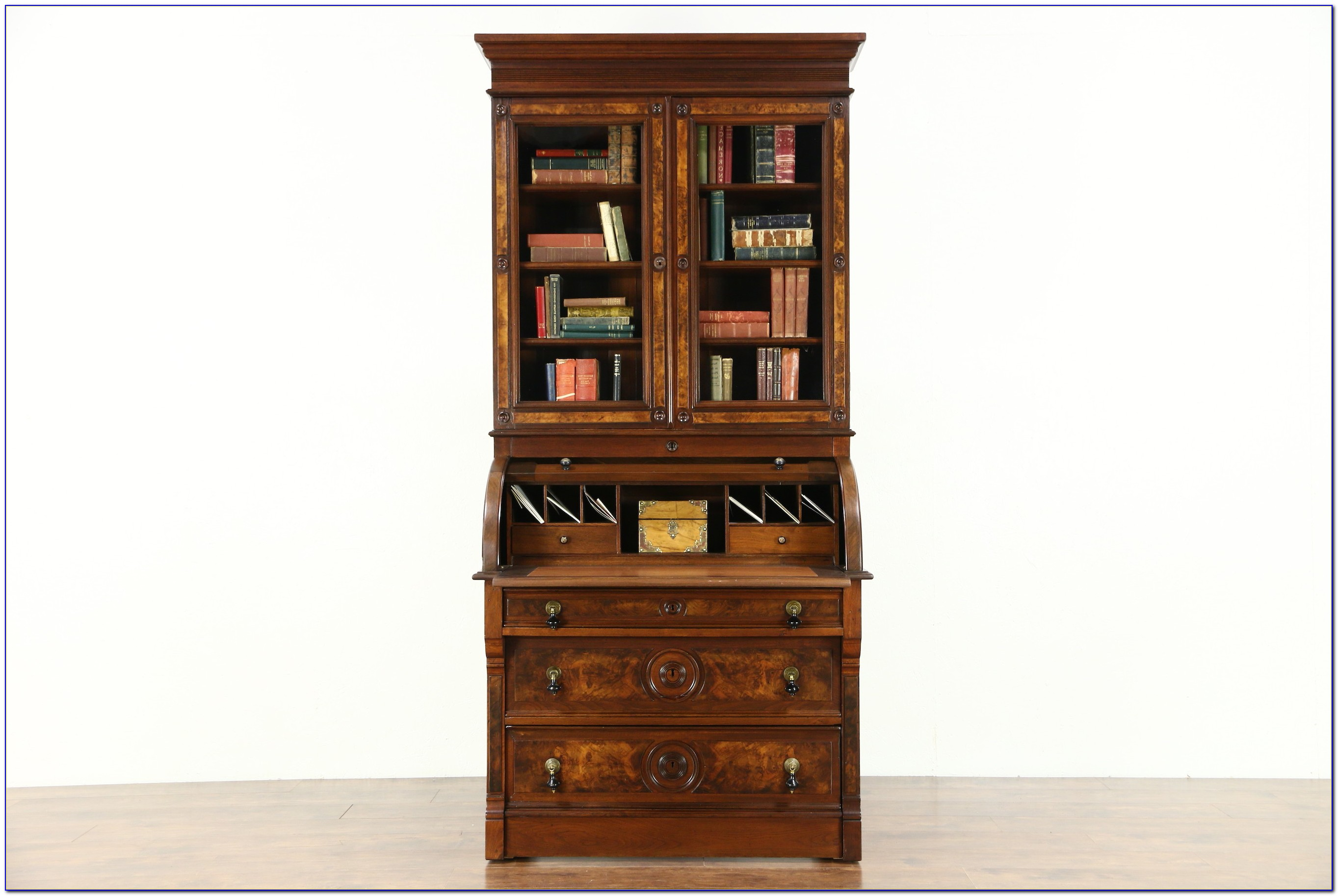Secretary Desk With Bookshelves