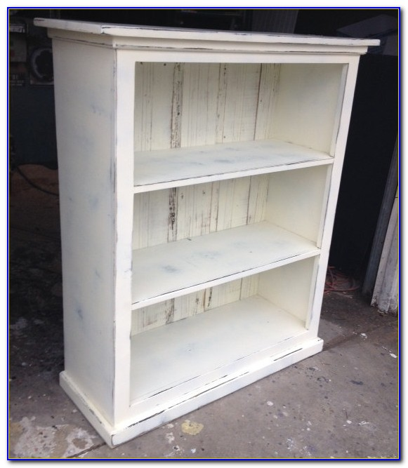 Shabby Chic Bookcase White