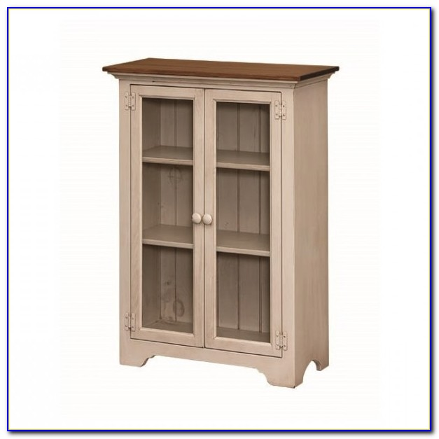 Short Bookcase With Sliding Doors