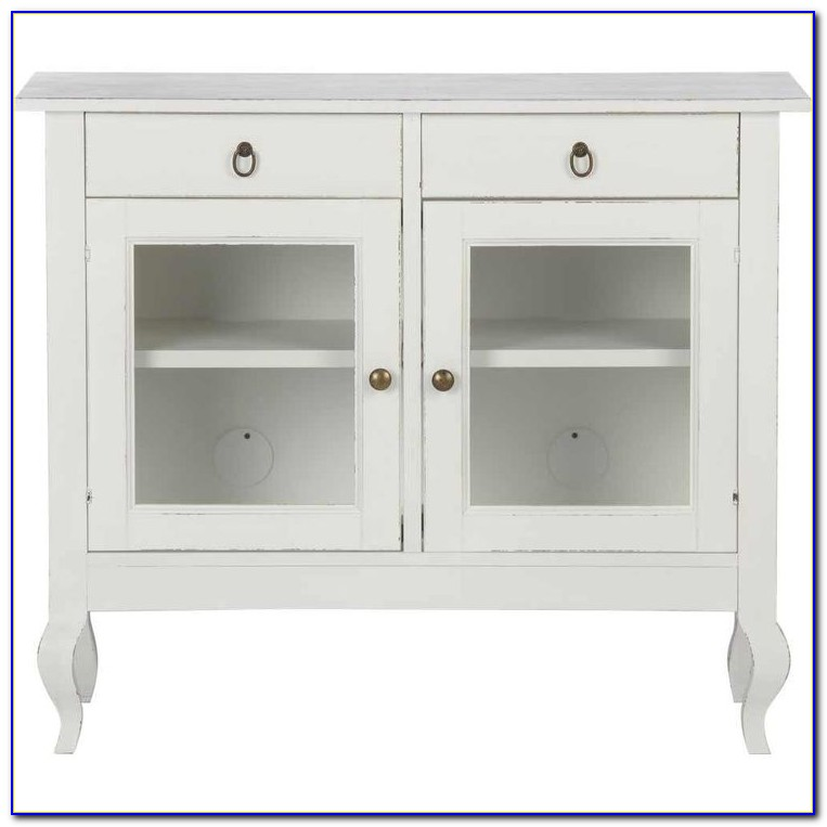 Short White Bookcase With Doors