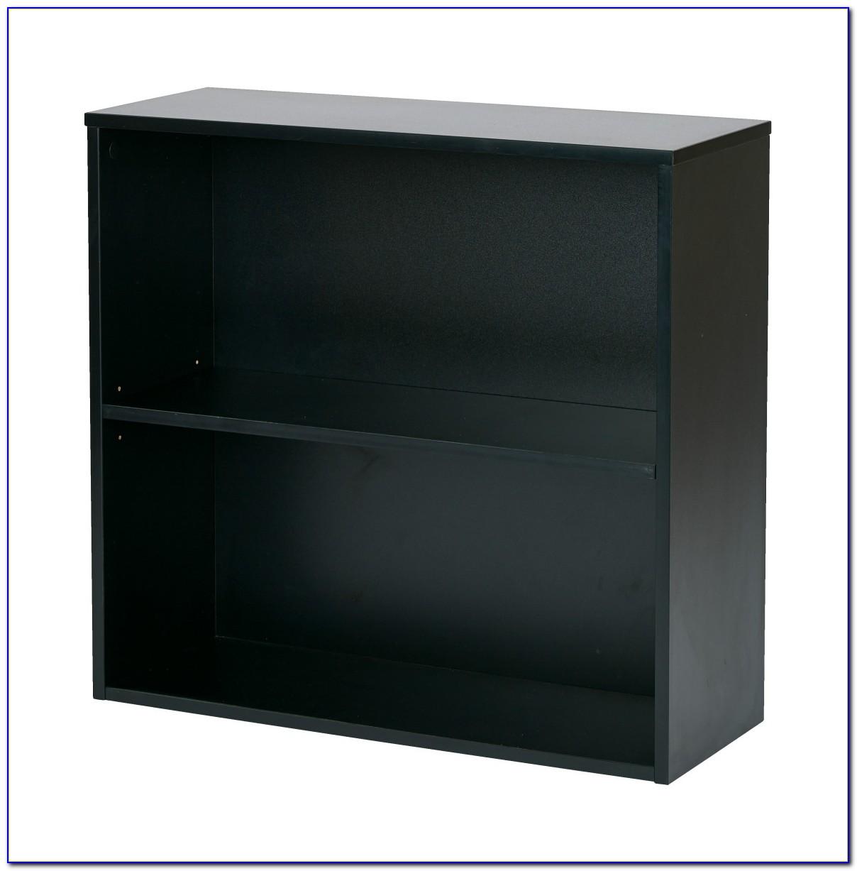 Small 2 Shelf Black Bookcase