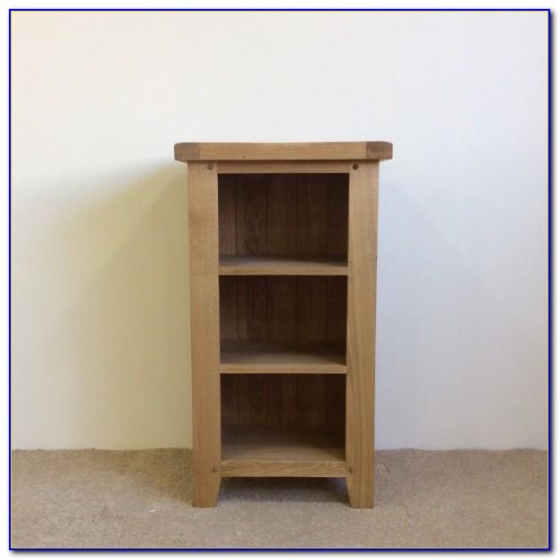 Small Narrow Bookcase Oak