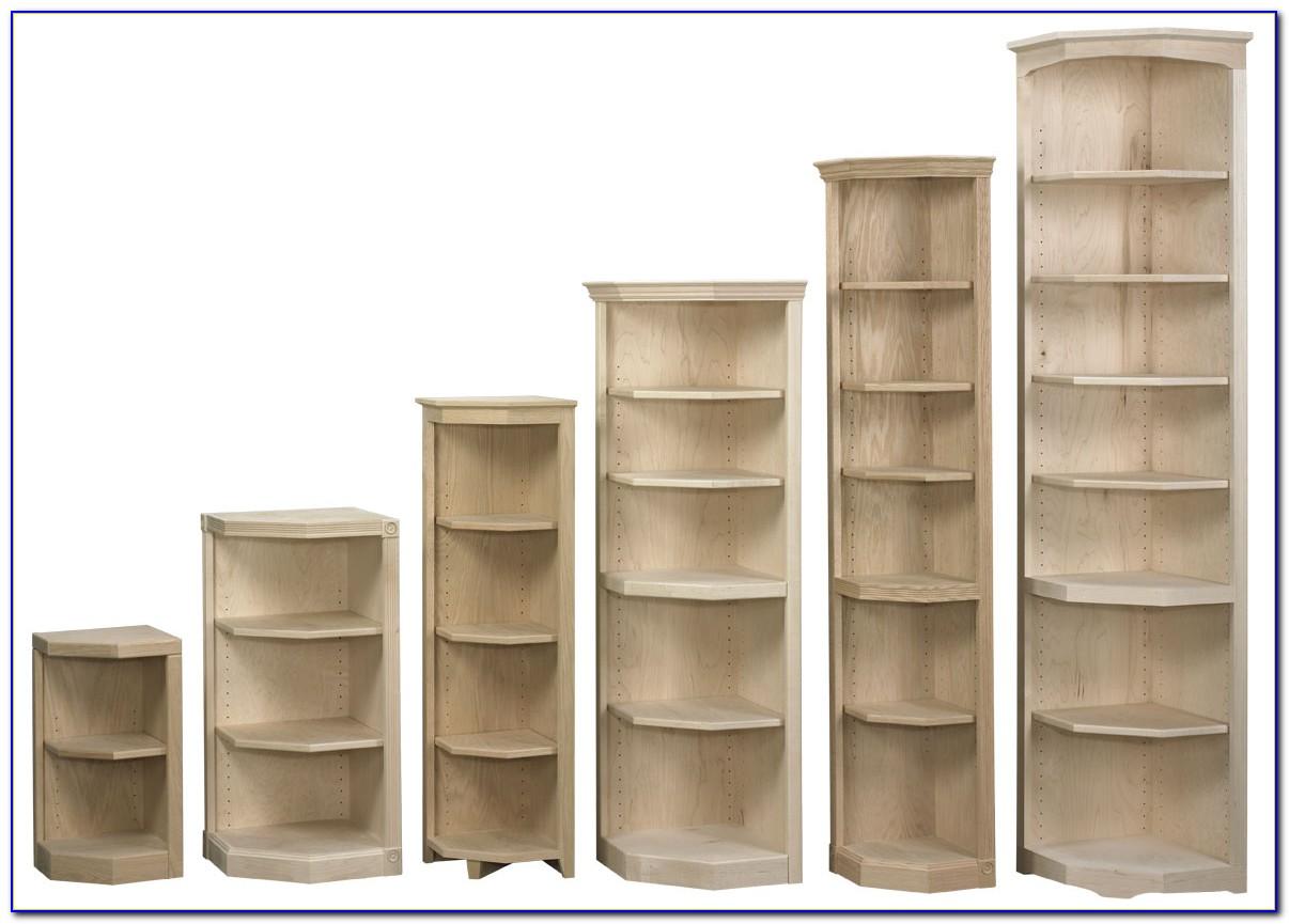 Small Wooden Corner Bookcase