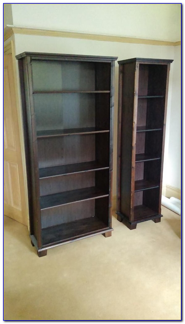 Solid Dark Wood Bookcases