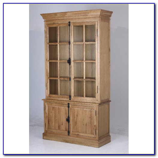 Solid Oak Bookcases With Doors