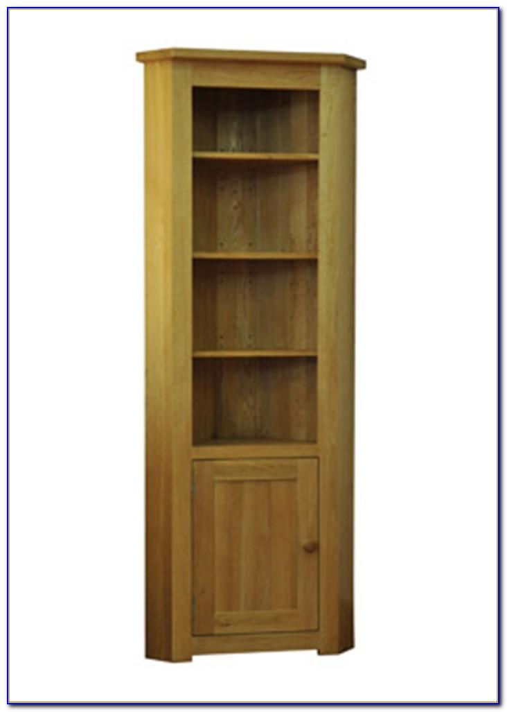 Solid Oak Corner Bookcase