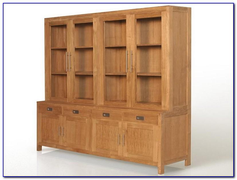 Solid Wood Bookshelf With Doors