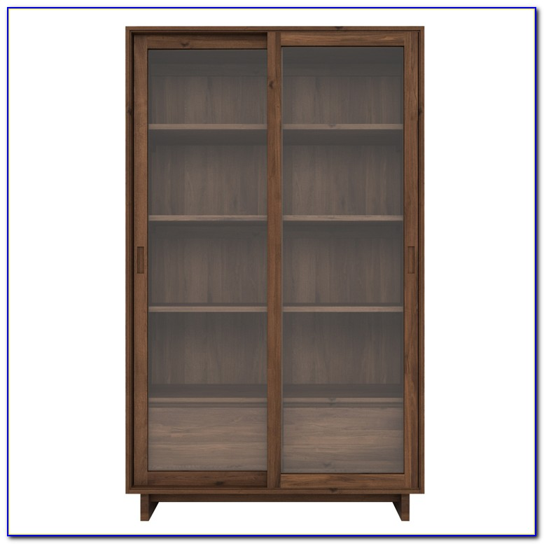 Solid Wood Walnut Bookcase