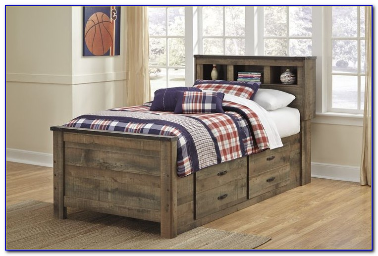 Sonoma Captain's Bed With Bookcase Headboard By Prepac