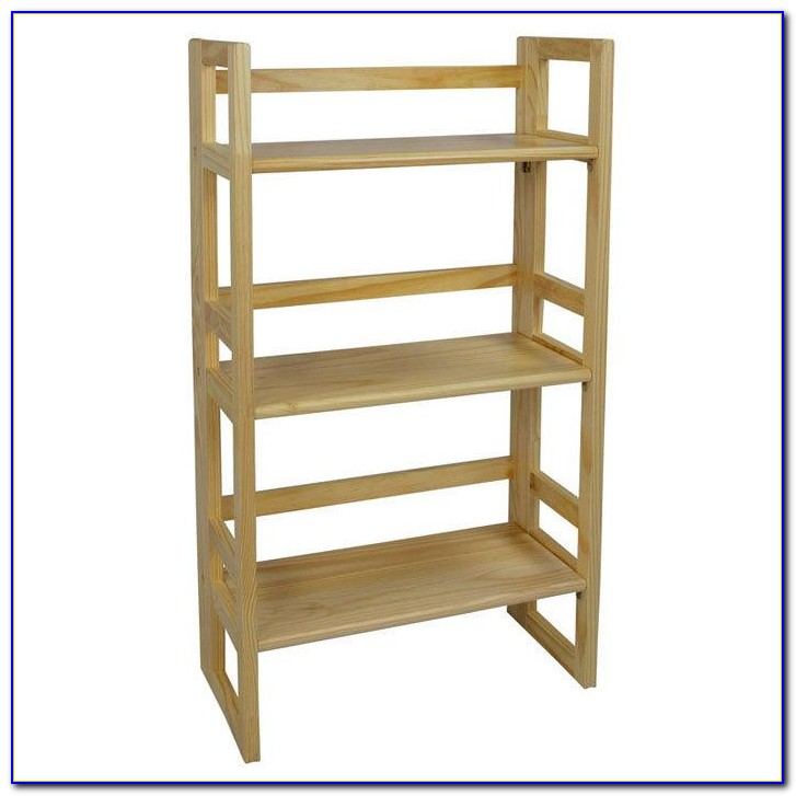 Stackable Folding Bookcase White