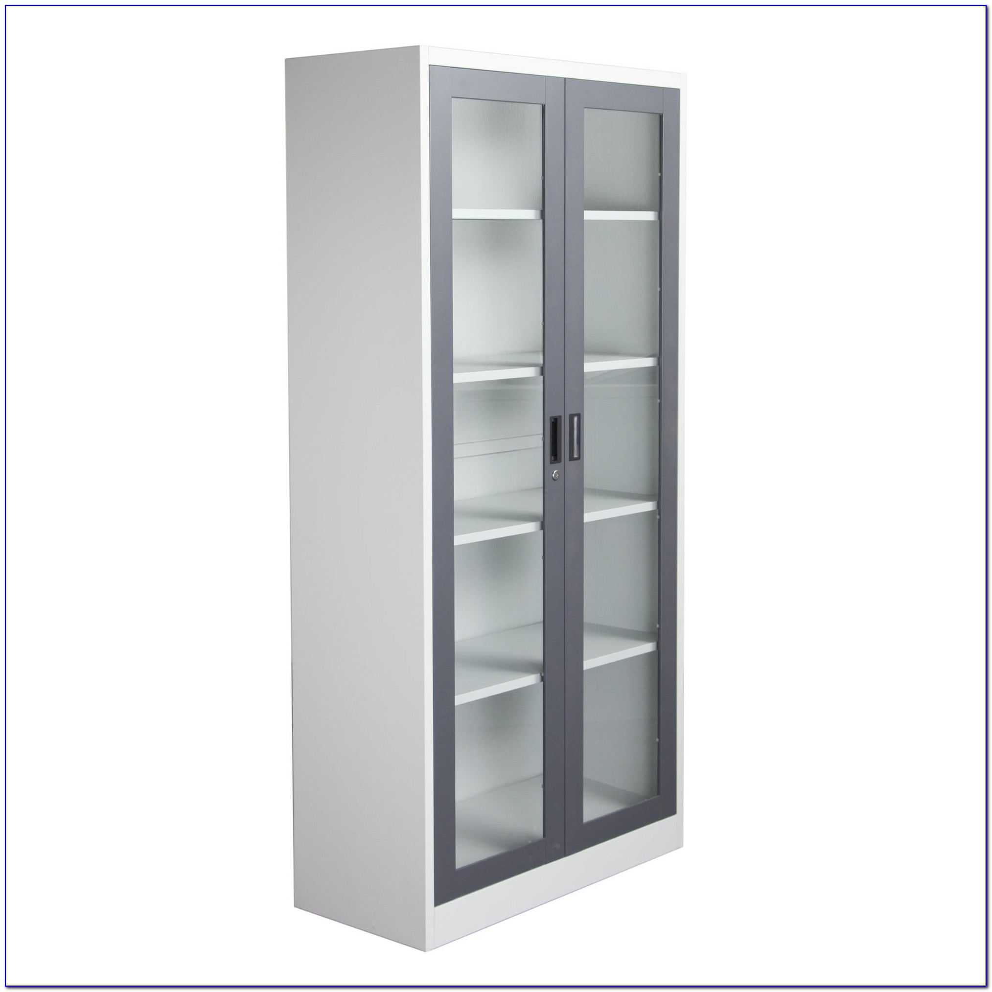 Steel Bookcase With Glass Doors