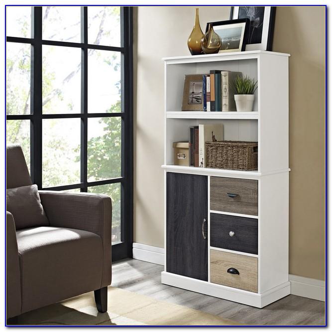 Storage Bookcase With Doors