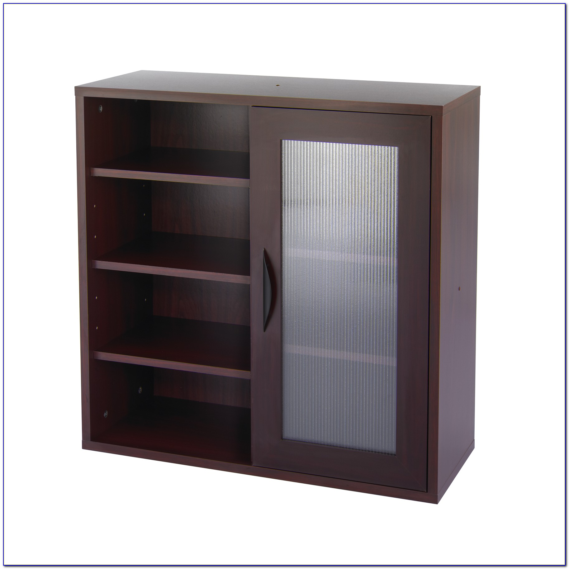 Storage Bookcase With Glass Doors