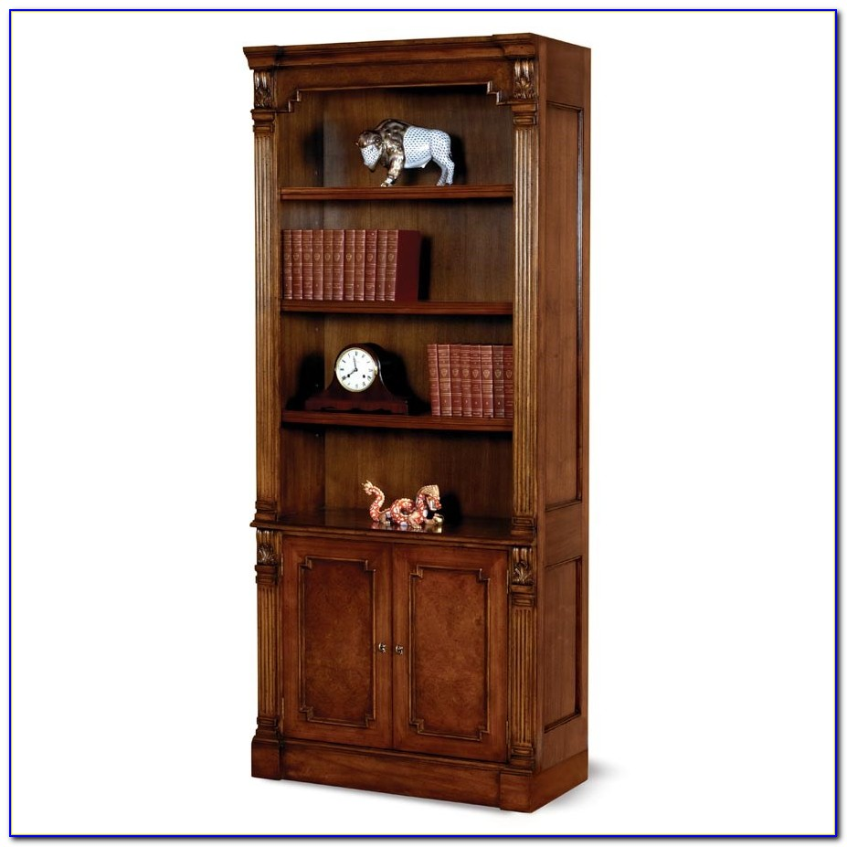 Tall Dark Wood Bookcase