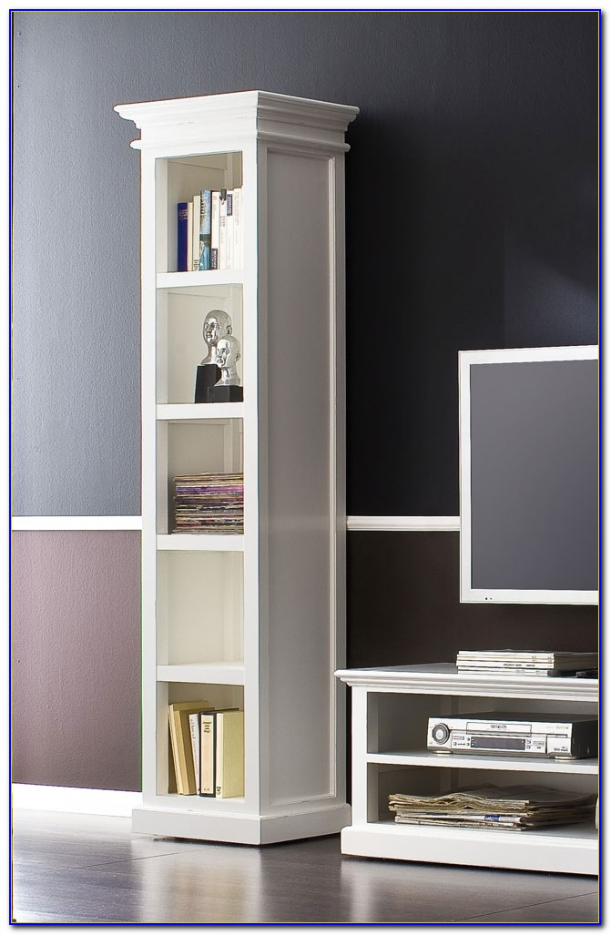 Tall Narrow Bookcases White