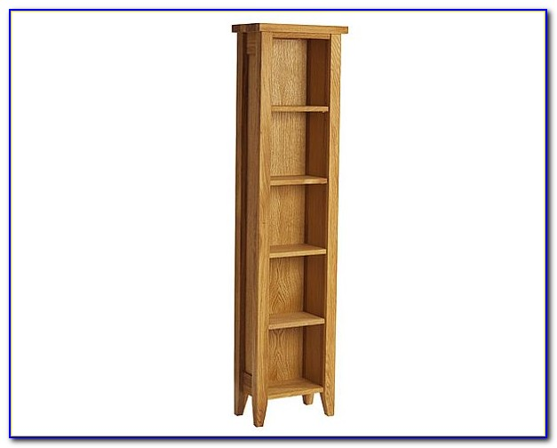 Tall Shallow White Bookcase